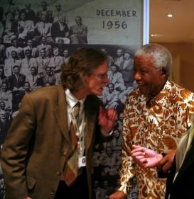 Verne Harris and Nelson Mandela.